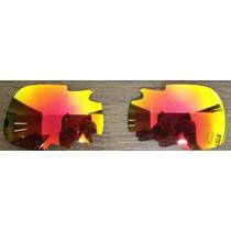 Lentes De Reposição P\ Óculos Oakl. Split Jacket - Vermelha