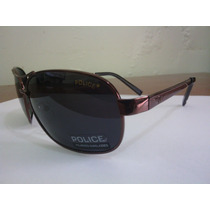 Óculos De Sol Police S8455 Bronze/black Pronta Entrega