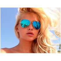 Óculos Rayban Aviador Espelhado Azul 3025 3026 Sedex Grátis