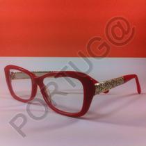 Armação Vermelha Gatinha Feminina Mulher Óculos Lentes Grau