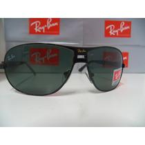 Óculos De Sol 3319 Preto Lente Verde G15