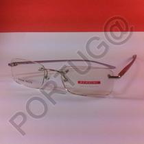 Armação Alumínio Lilás Com Prata Feminina Óculos Lentes Grau