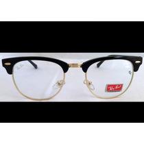 Armação De Oculos De Grau Ray Ban Clubmaster Frete Gratis