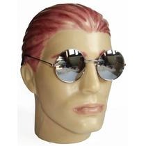 Oculos Estilo Redondo John Lennon Cromado Lente Croma Espelh