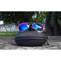 Óculos De Sol Armação Estilo Aviador - Lentes Espelhadas