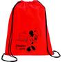 Sacola Mochila Personalizada 01 Cor Lembrança Aniversario Rj