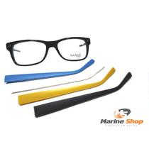 Óculos Troca Hastes Acetato Wayfarer Retrô - Armação P/ Grau