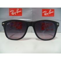 Óculos De Sol Wayfarer Preto Branco L.cinza