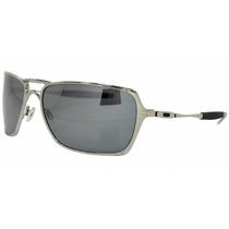 Oculos De Sol Oak Inmate Prata Polished Chrome Polarizado