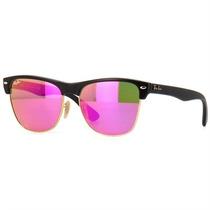 Óculos Ray Ban Clubmaster Feminino Oversize Lentes Pink