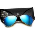 Ray Ban 3026 Lente Azul Espelhada Modelo Aviador