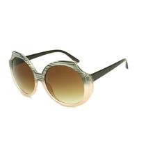 Oculos De Sol Super Grande Redondo Marrom E Rosado