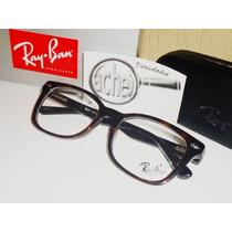 Armação Oculos Grau Rb5285 Wayfarer Tartaruga Acetato Rayban