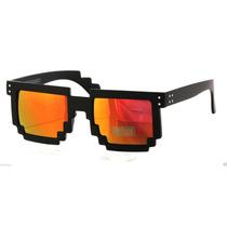 Óculos De Sol Lentes Espelhadas 8bit Pixel Geek- Nerd