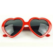 Óculos Coração Lolita Red Retro Ponta De Estoque P. Entrega