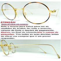 Armação Oval Para Óculos De Grau Exclusivo Tartaruga No Aro