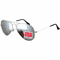 Óculos De Sol Aviador Lente Prata Espelhado 3025 3026 50%off