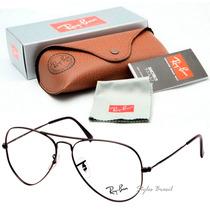 Oculos Ray Ban Rb Aviador De Grau 3026 + Case Marrom