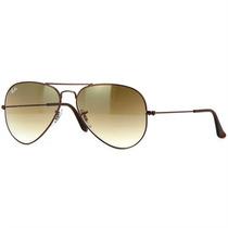 Óculos Sol Aviador Ray Ban Unissex Gradient Light Brown M