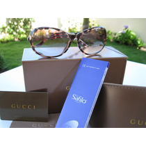 Óculos De Sol Feminino Gucci Armação Tigrada Pronta Entrega