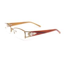 Armação Óculos Feminino Acetato E Metal Marrom Hr1041c9 Mj