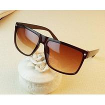 Óculos De Sol Marrom Luxo Mulher Homem Feminino Importado