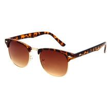 Óculos De Sol Marrom Onça Para Mulher Feminino Importado