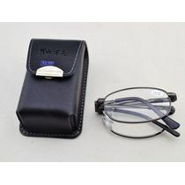 Armação P/ Óculos Para Leitura Dobrável Com Bolsa Preta