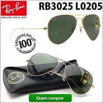 Ray Ban Rb3025 3026 L0205 Aviador Frete Grátis P Todo Brasil