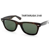 Óculos Wayferer 2140 Tartaruga Lentes Verdes