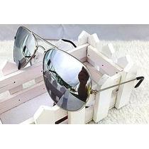 Oculos De Sol Aviador Espelhado Estilo Rayban