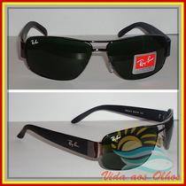 Óculos Rb3312 Demolidor Grafite Lentes Escuras.