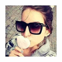 Oculos De Sol Feminino Máscara Quadrado Lente Degradê