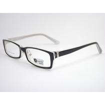 Armação Óculos Para Grau Preto Branco Acetato Bl6160 C78 Mj