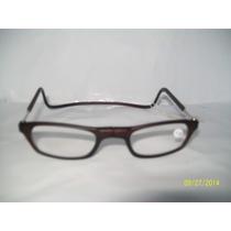Armação Marron P/óculos Grau Clic C/ Imã Meio Prático Leve