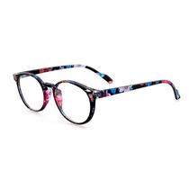 Armação De Óculos Vintage Retrô Cor Preto Com Flores Novo