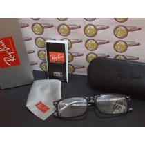 Armação Oculos Grau Rb5228 Acetato Preto Tamanho 50 Rayban