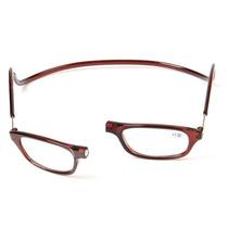 Ele Ela Unissex Armação Marron Oculos Gr +3,0 Leitura C/ima