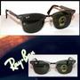 Óculos Clubmaster 3507 Aluminium Grafite Lentes Verdes Orig
