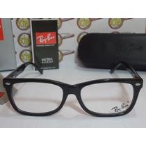 Armação Oculos Grau Rb5228 Wayfarer Preto Black Piano Rayban