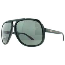 Óculos De Sol Gucci Gg 1622/s D28 Preto Brilhante Gg1622