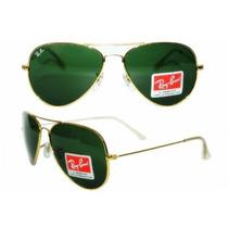 Ray Ban 3024 Aviador Dourado Lente Verde!!