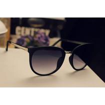 Óculos De Sol Feminino Vintage Oversized - Uv 400