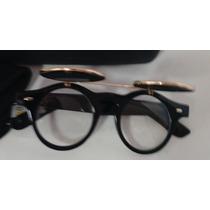 Oculos De Grau E Sol 4 Lentes 5 Cm Redondas