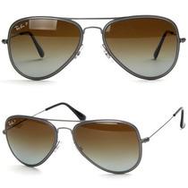 Óculos Sol Ray-ban Rb3513 Aviador Polarizado Rb3025 Titanium