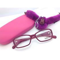 Armação De Óculos Vinho Kipling Frete Gratis Original!