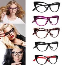 Armação Óculos De Grau - Gatinho Cat Retrô Wayfarer Fashion