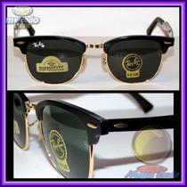 Óculos 3507 Clubmaster Aluminium Preto Lentes Escuras
