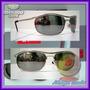 Óculos Demolidor 8012 Prata Lentes Escuras Espelhadas