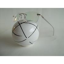 Armação Sem Aro Flutuante Óculos P/ Grau Alumínio Cor Prata